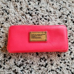 Marc Jacobs bright leather wallet